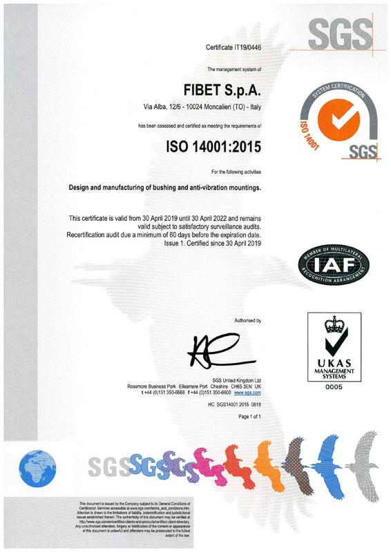Certificato ISO 14001:2510
